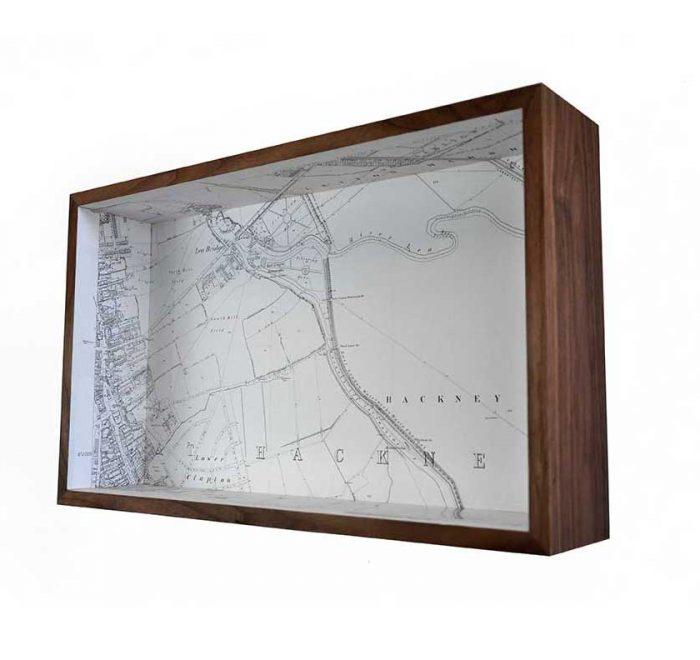 Lower clapton framed map box