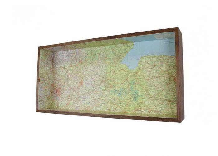 Midlands east anglia framed map box
