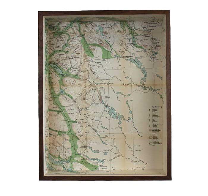 Tromso framed map box, Norway