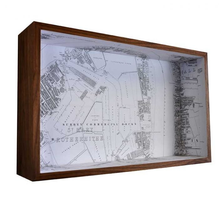 Rotherhithe framed map box