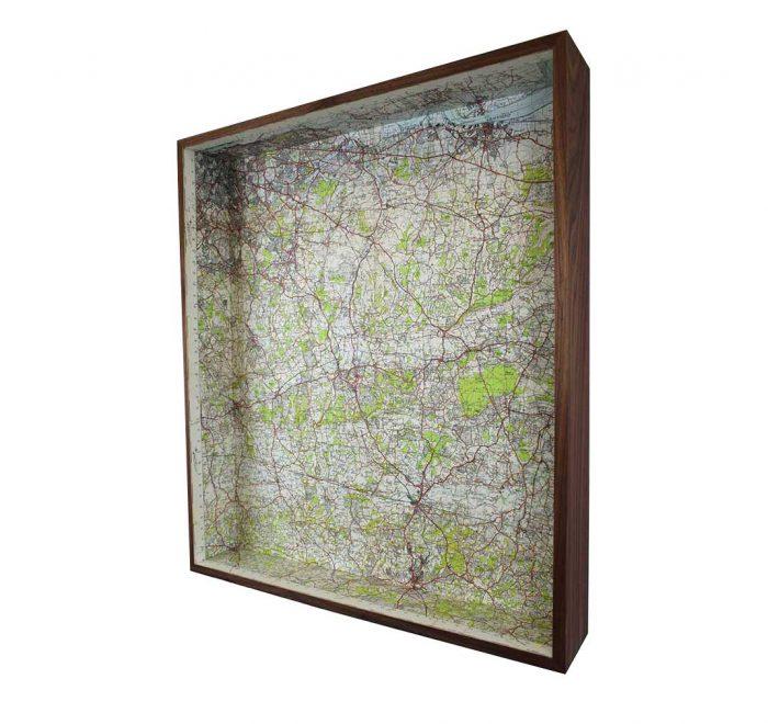 South east London framed map box