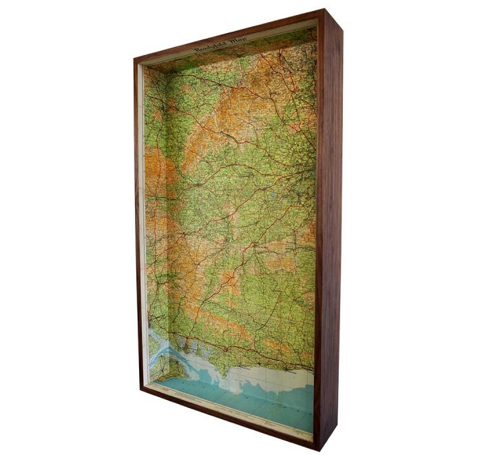Southern England framed map box