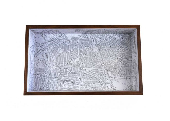 Stoke newington framed map box